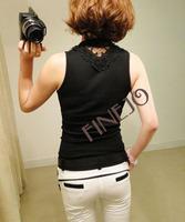 Big Promotion!! 2014 New Summer Women Tank  Sexy Transparent Slim Sleeveless Cotton Sleeveless Tank Tops 17629