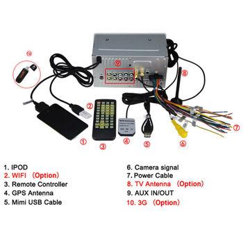 "Joyous 6.2"" HD Touch Screen 2612MX 2 Din Car DVD GPS Bluetooth iPod ATV Player -88015860"