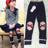 new fashion 2015 spring bayby clothing girl legging kids leggings girls leggings lace leggins for children
