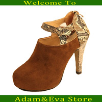 2013 new Europe and the United States sexy serpentine ankle boots high-heeled suede women's singles shoes