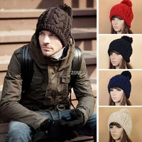 Dropshipping 8pcs/lot Solid Color Unisex Winter Elastic Knitting Cap Beanie Hat Winter Slouch 6 Colors One Size Elastic 18373