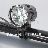 5000 Lumens 4T6 Headlight 4 x CREE XML T6 LED Bicycle Bike Light and Rechargeable LED HeadLight Headlamp,6400mah battery