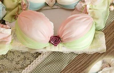Free shipping 2014 new style dream angels 3-breasted push up bra burst milk flower metal lace side sexy women underwear bra set(China (Mainland))