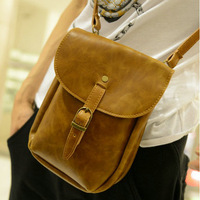 New 2013 PU vintage leather small men messenger bags,shoulder bag for man,men's waist pack cross body bag,MB180