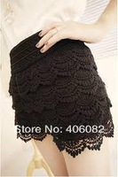 Lace skirts womens a Shorts fashion women zara2014 feminino saia renda female brand overall casual roupas femininas plus size
