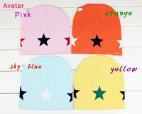 2013 new product  children bonnet leisure hat five stars hat about 6M-3T  4pcs/lot