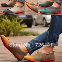 Men Loafers Leather Shoes Handiness Cotton Breathable 3 Color Wholesale Free Shipping