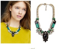 2014 Necklace Fashion Luxury Statement Necklace Exaggerate Golden Chunky Chain For Women