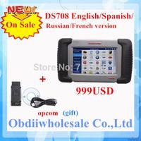 2014 New Released DS708 Russia Version autel ds708 maxidas ds708 original Scanner with Multi Language Free Online Update