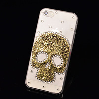 skull cool bling back cover for apple iphone 6 plus 5 5s 5C 4 4s samsung galaxy S5 S4 S3 Smini note 2 3 4 grand duos bling case