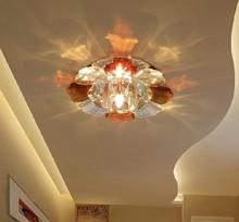 3w modern led crystal chandelier lampshade ceiling lamp balcony hallway home lighting 110V 220V 230V 240V light fixtures abajur(China (Mainland))