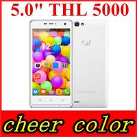 "Original ThL 5000 mobile Phones MTK6592 Octa Core Android 5.0"" 1080P IPS Coning Gorilla Glass 3 16GB ROM 5000mAh 13.0MP NFC"