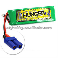 Free shipping 5000MAH 2S 40C MAX 80C 7.4V Car helicopter Boat NANO TECH LIPO PACK BATTERY HUNGER--RC03106