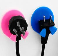 JD 9100 Free shipping creative Paste type electrical appliances plug hook robe hooks 2pcs/set
