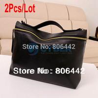 2Pcs/Lot Hot Fashion Women's Shoulder Bag Lady Neon Color Zipper Hand Bag Clutch Cross-body Bag 17729