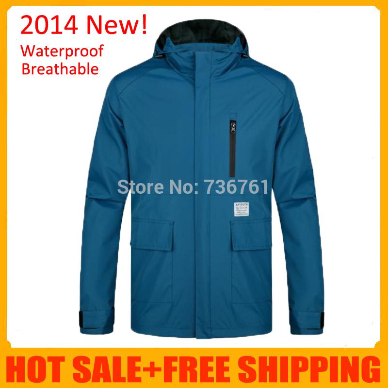 Dropshipping 2014 Men clothing outdoor sports Windbreaker outerwear Mountain climbing jacket waterproof hiking man raincoat(China (Mainland))