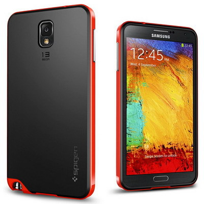 SGP SPIGEN Bumblebee Neo Hybrid Hard Case For Samsung Galaxy Note 3 III N9000 Mobile Phone Cover Back TPU Plastic, No Retail Box(China (Mainland))