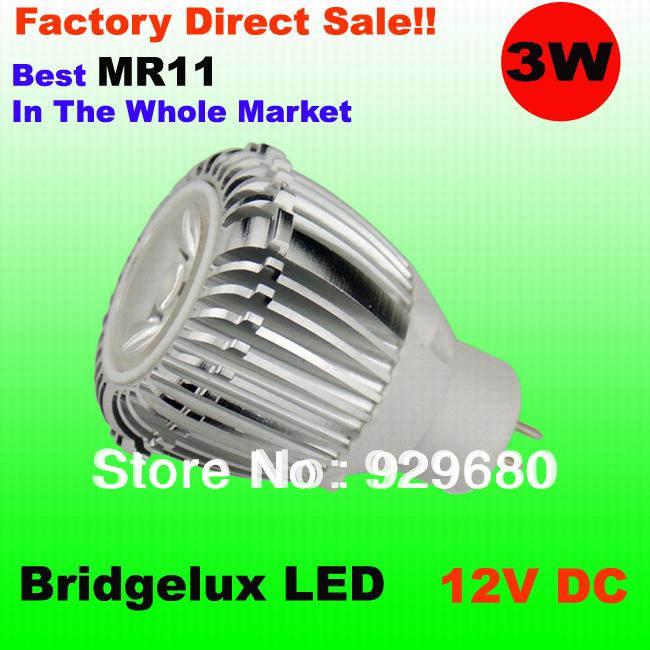 Светодиодный прожектор GO MR11 3W , Bridgelux ,   25 , 50pcs/lot GO-MR11-3W sb0864 industrial temperature sensors sonde ve go 154 mr li