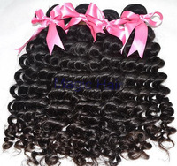 Factory wholesale peruvian virgin hair peruvian virgin curly hair weave 3-4pcs lot mixed length free shipping