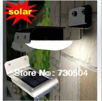 16 LED solar light motion sensor waterproof IP65 wall garden yard solar light 2pcs/lot free shipping