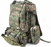FREE SHIPPING Tactical Military Bag Mountaineering Hiking Outdoor Combination Bag Day Backpack