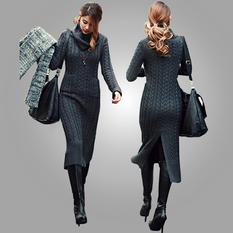 Sweater Dresses For Fall 2014 Korean Fall and Winter