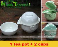 Portable travel teaset,1tea pot+ 2 cups,china ceramic kung fu tea set,smart chinese gongfu porcelain tea cups set,free shipping