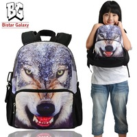 Free Shipping 12 inch wolf over printing school bags for boys Schoolbags for children, top selling, BBP109S,backpacks