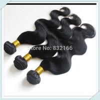 Muse Hair:Queen Hair products Brazilian virgin hair Body Wavy 3pcs 2pcs 1pc  Color#1b  Rosa High Quality Hair Weft free ship DHL