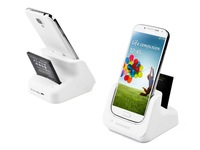 RAVPower Dual Desktop USB Portable Battery Charger Carregador Cradle Dock Station for Celular Sansung Samsung Galaxy S4 White