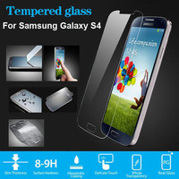 New 2014 For Galaxy S4 Anti Shatter Explosion-Proof Premium Tempered Glass Screen Protector for Samsung Galaxy S4 i9500+Shipping