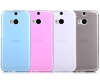 High Quality TPU Soft Case Cover For HTC One M8 Case 4 Colors