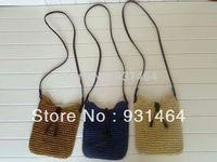 HOT New Women Crochet hook Messenger Shoulder bag Woven Straw Beach Handbag Bolsas Bolsos Free shipping