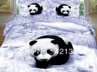 Panda Paradise  100% cotton bedding   Oil painting bedclothes  3d bedding sets   Quilt cover /Bed Sheet/pillowcases