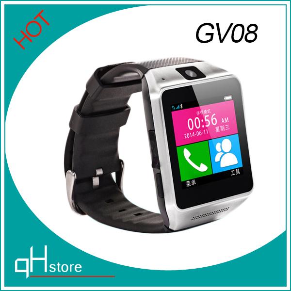 "Multi-Function Wireless Bluetooth 3.0 Smart Watch phone On Wrist GV08 MTK6260A 1.5"" TFT 1.3MP Camera 240*240 pixel Passometer(China (Mainland))"