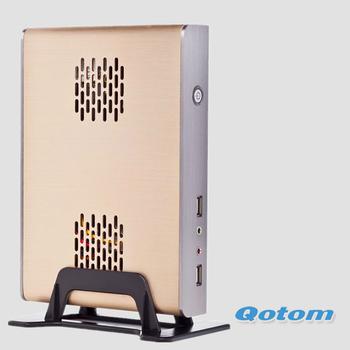 free shipping QOTOM-T29S with dual core cpu onboard,fanless mini pc with 2GB/4GB DDR3 RAM & 8GB/16GB/32GB SSD/150M wifi optional