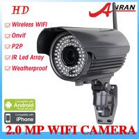 Wireless 1080p 2MP Megapixel HD H.264 Sony Sensor Onvif  Varifocal 4-9mm 78IR Surveilance Security Camera IP Network Camera