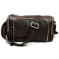 Brand Retro Vintage Casual Genuine Leather Cowhide Crazy Horse Leather Men Messenger Bag Shoulder Cross Body Bag Bags For Men