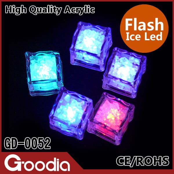 120pcs/lot Wholesale High quality wedding celebration LED Glow Ice Cubes novelty party Sparkling Ice Withou
