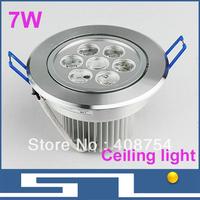 High power 7W LED ceiling light, AC85-265V Energy-saving spot light,Warm white & cold white ,10pcs/lot, free shipping