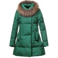 2013 winter female medium-long down coat jacket large fur collar  thickening new fashion women down parkas outerwear A302