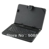 Freeshipping 1pcs/lot Black Leather Case with USB Interface Keyboard for 10 inch  MID Tablet PC