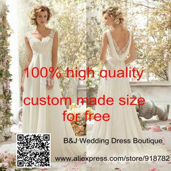 Реальные фото свадебное платье новое поступление 2014 Fashionale элегантный линия втулки крышки бисероплетение кружева спинки свадебное платье свадебное платье