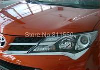 TOYOTA RAV4  RAV 4  2013 2014 High Quality ABS Chrome Front Headlight Head Light Lamp Cover Trim 2pcs