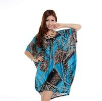 XL-6XL Sexy Leopard Dress Casual Women Print Dresses Big Large Plus Size Oversize 3XL 4XL 5XL XXXL XXXXL XXXXXL 2014 New Summer