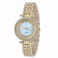 2014 free shipping women dress watches ladies gold watches relogio feminino rhinestone watch relojes women fashion watches 1145W