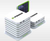 Expandable Solar Power Bank 10000mAh Phone Charger  Polymer-Ion G-power STX-II  Power Bank External Battery Pack Capacity