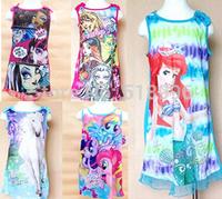 1pcs Free Shipping 4-16T Brand Kids dress, monster high dress,Classie design, Girls pajamas , kids lovely dress Top Quity