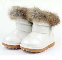 Children boots,kids winter cotton-padded shoes, Girls/Boys rabbit fur knee-high snow boots baby girls boots