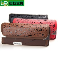 Leather  nylon pencil bag boy top quality  pencil case student stationery gift pencil pouch bag  high school